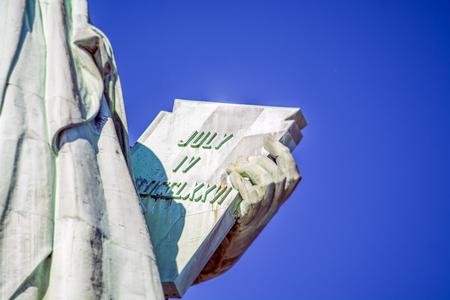 Detalle de la Estatua de la Libertad, Nueva York