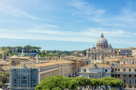 Vatican and Basilica of Saint Peter seen from Castel SantAngelo. Roma, Italy