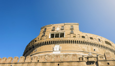 bottom view of Castel Sant Angelo in Rome, Italy Stock Photo