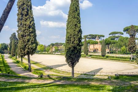 Piazza di Siena in Villa Borghese, Rome, Italy