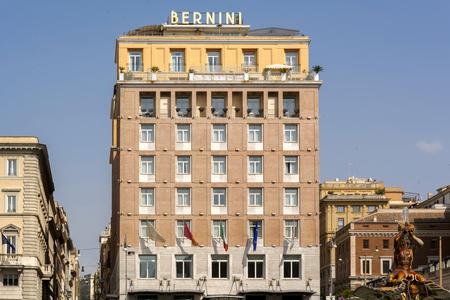 ローマ、イタリア、2017 年 3 月 25 日: ローマ、イタリアでトリトン像、ベルニーニ ブリストル ホテル