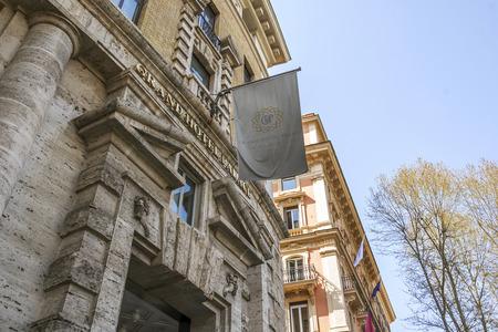ローマ、イタリア、2017 年 3 月 25 日: ローマ、イタリアで有名な Via Veneto にあるグランド ホテル パレスの正面玄関