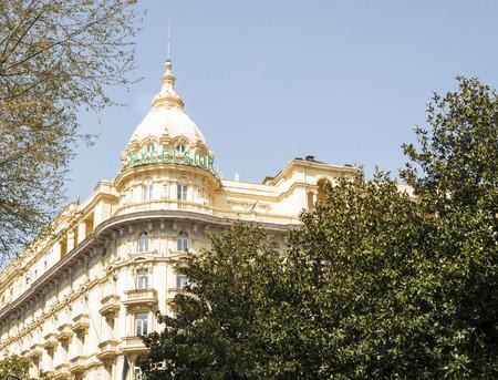 ローマ、イタリア、2017 年 3 月 25 日: ローマ、イタリアで有名な Via Veneto にあるグランド ホテル エクセルシ オールの外装塔