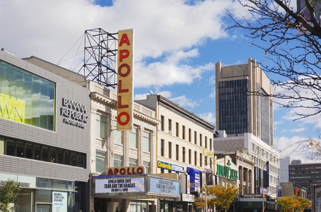 New York, USA, november 2016: the famous Apollo Theater in Harlem, New York