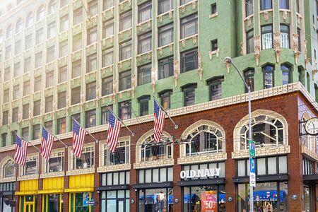 San Francisco, CA, USA, October 2016: Facade of the Old Navy store in San Francisco