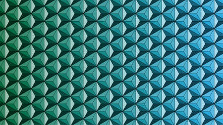 seamless Asanoha pattern. Green to Blue graded color.