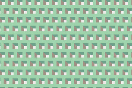 Vector backdrop with pattern of a grid with green squares. Vector illustration with repeated shape Illustration