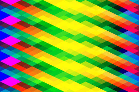 vector background made with rhomboid geometric shapes with vivid rainbow colors