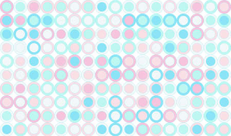 geometric seamless pattern background composed by a sequence of circles pastel colors. Repetitive geometric theme.