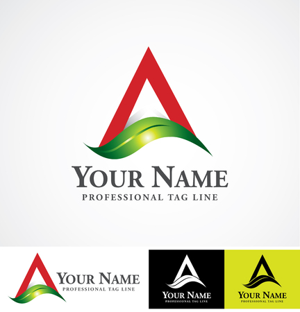 Vector logo design template.  Concept for herbal, agro and  food companies etc.