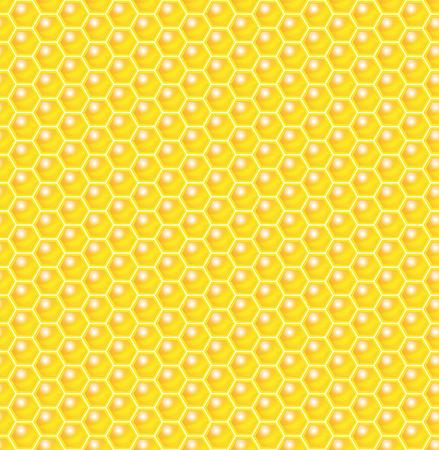 Honeycomb Seamless Pattern. Vector Illustration Ilustração