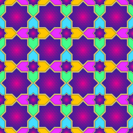 kuran: Islamic Star Seamless Pattern. Elegant background for cards, invitations, wallpaper, poster etc. Vector Illustration Illustration