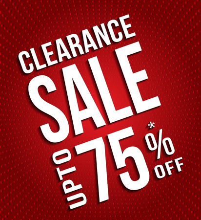 Clearance Sale banner with dotted background. Vector illustration