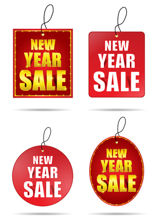 New Year Sale Tag. Vector Illustration Ilustrace