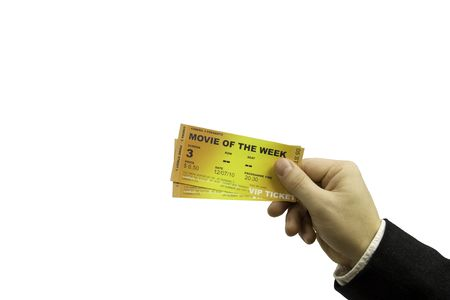 VIP tickets for cinema Stock Photo