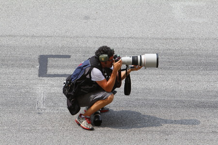 Cameraman in action