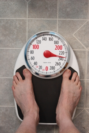 weight room: Standing on  Scale