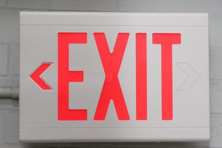 Exit Sign 版權商用圖片 - 1006230