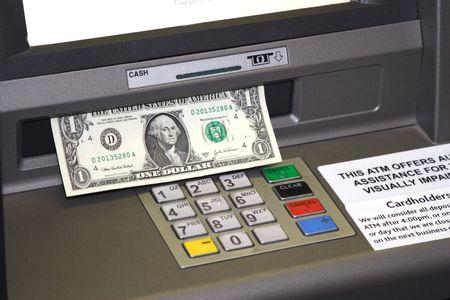 ATM dispensing Cash Stock Photo - 1050891