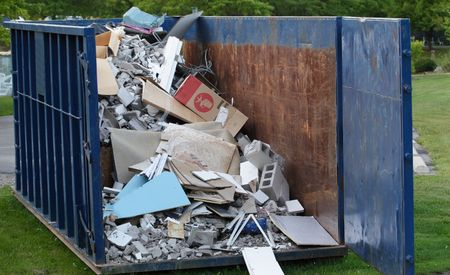 Dumpster with construction debris Stock Photo - 1850967