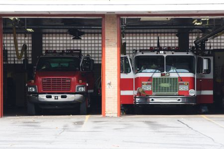 dept: Fire Trucks at the Station