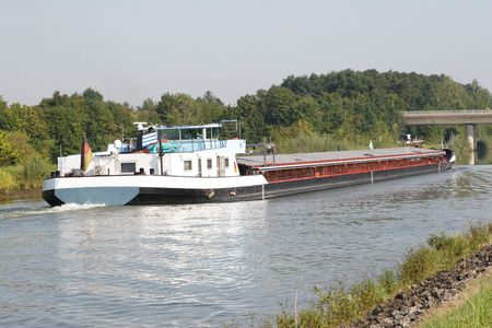 barge: Barge on Canal