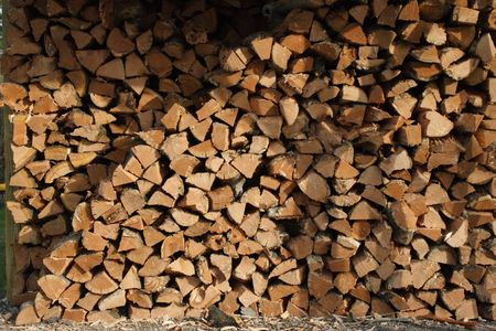 gas fireplace: Stack of Firewood