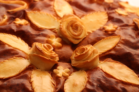 Cookies in the shape of roses