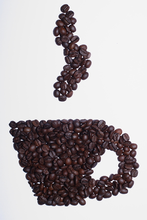 Cup of coffee from beans