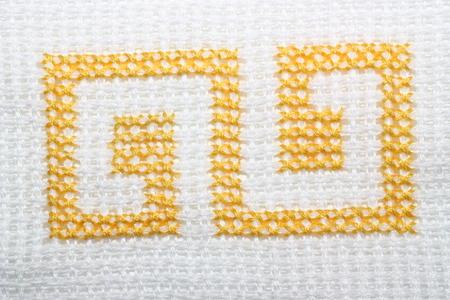Cross stitch element closeup