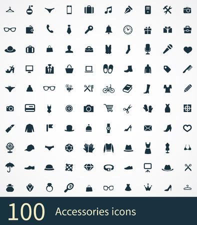 set van accessoires pictogrammen