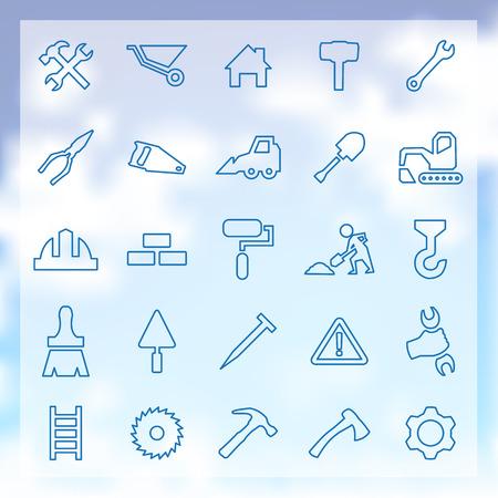 herramientas de construccion: 25 esquema, Iconos de construcción
