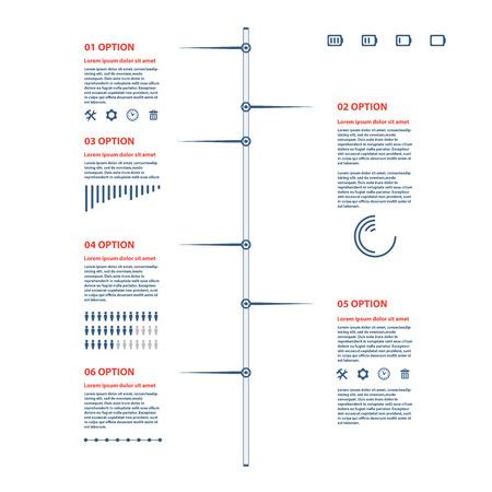 timeline illustration on white background Vectores