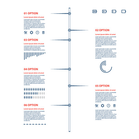 timeline illustration on white background 向量圖像