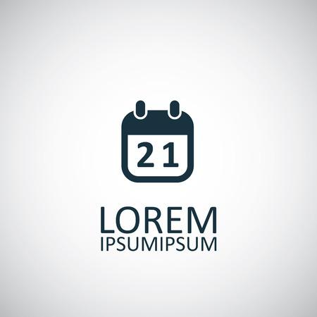 calendar isolated: calendar isolated black icon logo on white background