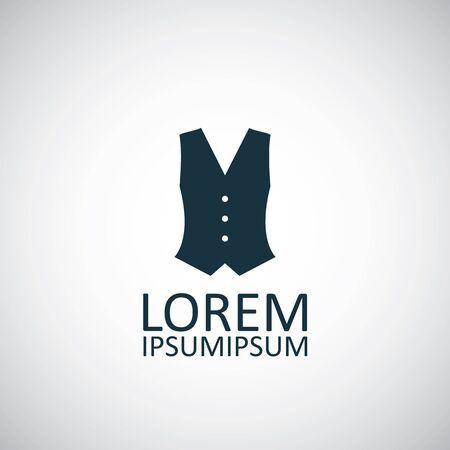 vest in isolated: vest circle background icon, isolated on white background Illustration