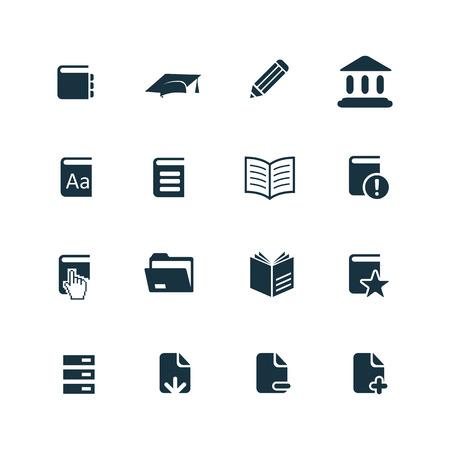 boeken pictogrammen instellen op een witte achtergrond