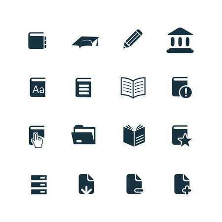 books icons set on white background