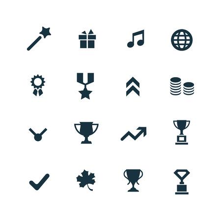award: award icons set on white background Illustration