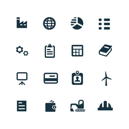 economy: economy icons set on white background Illustration
