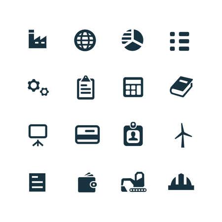 economy: economy icons set on white background Illustration
