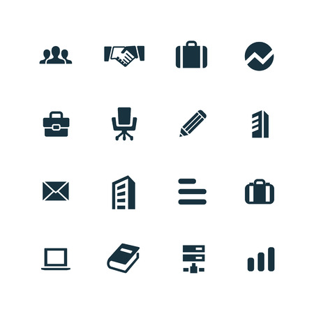 company icons set on white background  イラスト・ベクター素材