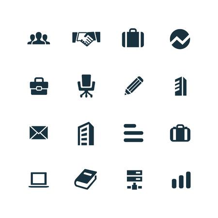 company icons set on white background Illusztráció