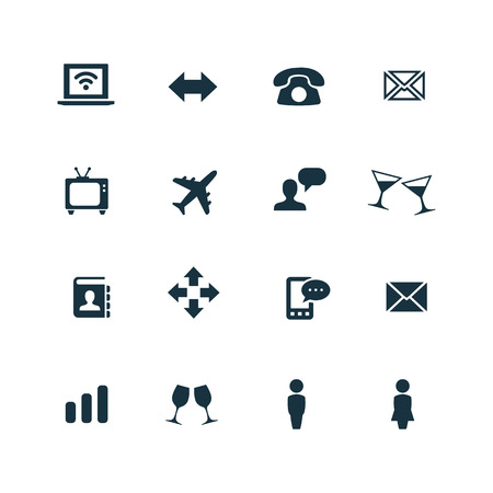 communication icons: communication icons set on white background