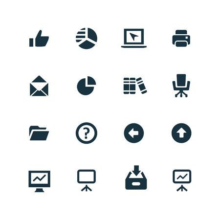Business icons set on white background