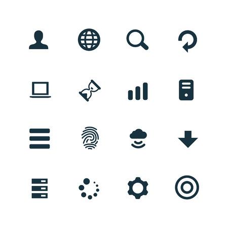 comunication: set of app icons on white background Illustration