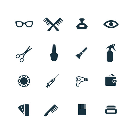 beauty salon: beauty salon icons set on white background