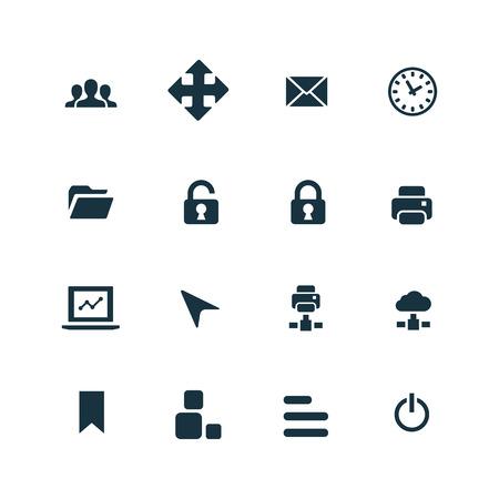 set of app icons on white background 일러스트
