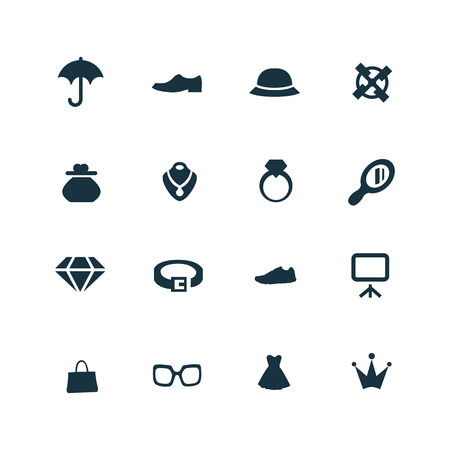jewelry: set of accessories icons on white background