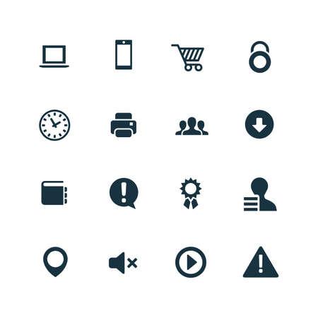 computers: webdesign icons set on white background Illustration